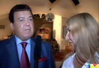 Мария Карпинская берет интервью у Кобзона Иосифа Давидовича