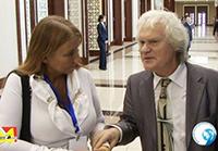 Мария Карпинская берет интервью у Юрия Куклачёва