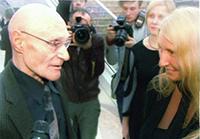 Мария Карпинская берет интервью у Юрия Шерстнёва