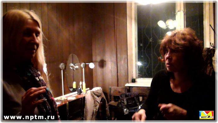 Мария Карпинская берет интервью у Елены Камбуровой