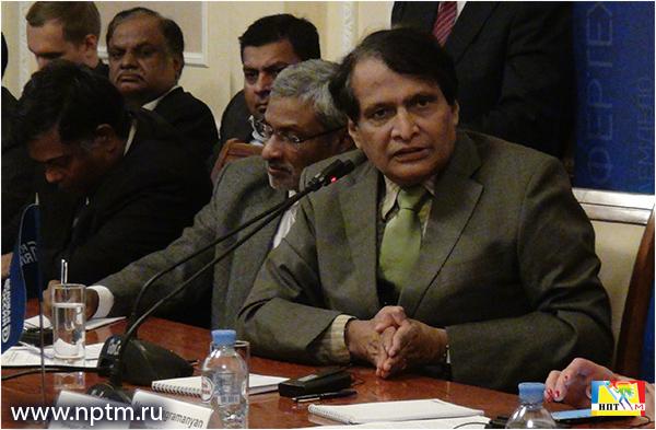 Встреча с почетным министром торговли и производства Индии - уважаемым Шри Суреш Прабху. Фото НПТМ