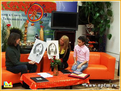 Никас Сафронов в студии Марии Карпинской НПТМ в прямом эфире передачи Будущее человечества
