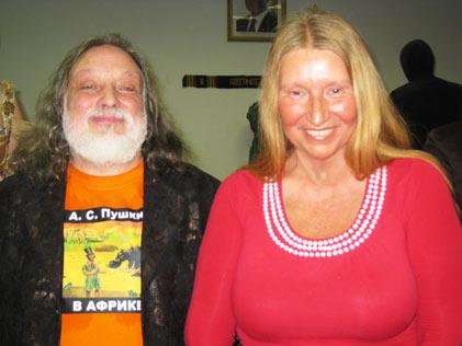 Мария Карпинская и Григорий Потоцкий в посольстве Республики Гана