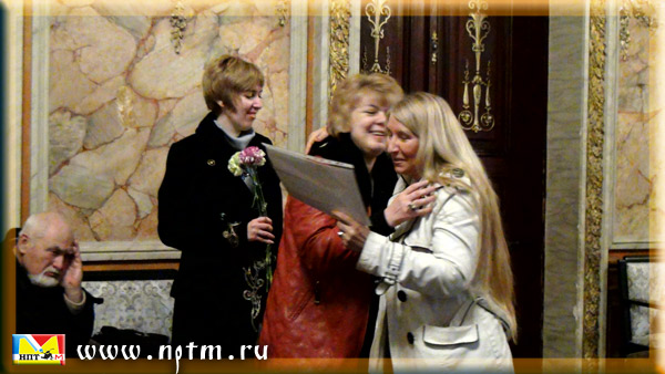 Награждение Марии Карпинской Дипломом Украинского национального Союза писателей
