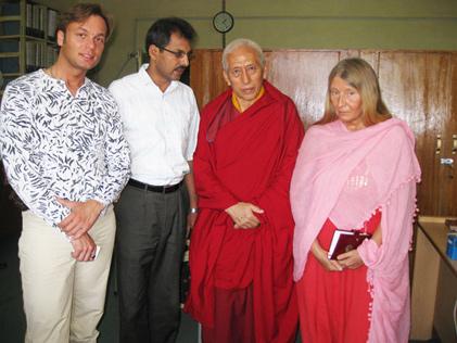 Мария Карпинская и Василий Пугачев на встрече с Ринпоче - премьер-министром Тибета